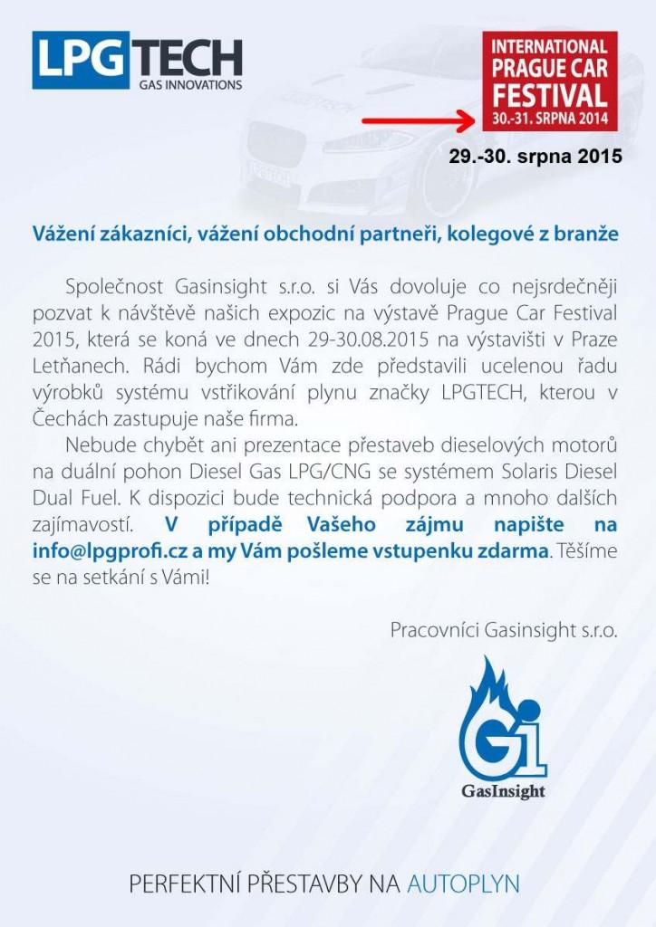 LPGTECH na výstavě Prague Car Festival 2015