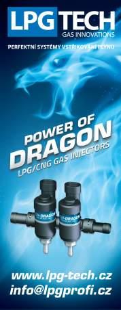 Vstřikovače LPG a CNG TECH Dragon